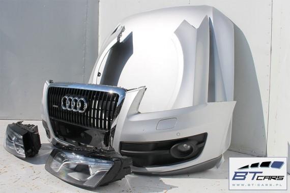 AUDI Q5 KOMPLETNY PRZÓD maska błotniki zderzak pas przedni lampy wzmocnienie błotnik Xenon LED 8R Kolor LX7W lodowo srebrny