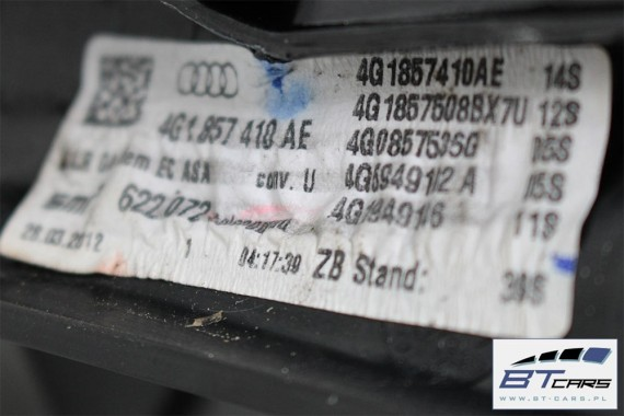 AUDI A6 LUSTERKO DRZWI ZEWNĘTRZNE PRAWE 4G 14+2 pin zewnętrzne pinów kabli