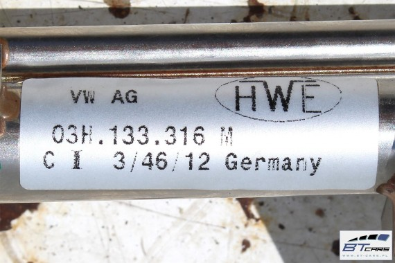 VW SKODA LISTWA WTRYSKOWA 3.6 03H133316M 03H 133 316 M 03H133317P 03H 133 317 P LISTWY WTRYSKOWE