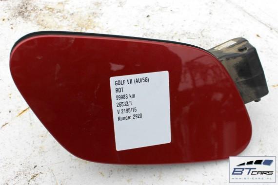 VW GOLF 7 VII KLAPKA WLEWU PALIWA 5G0809857 5G0 809 857 LA3X 5G Kolor: LA3X - czerwony (sunsetred metallic)