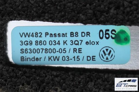 VW PASSAT B8 KOMBI RELINGI DACHOWE 3G9860025K 3G9860026K 3G9 860 025 K 3G9 860 026 K Kolor: 3Q7 - aluminium reling dachowy 2 szt