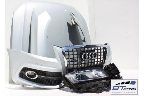 AUDI Q5 S-LINE KOMPLETNY PRZÓD maska błotniki zderzak pas przedni lampy wzmocnienie błotnik lampa XENON LED 8R Kolor:  srebrny