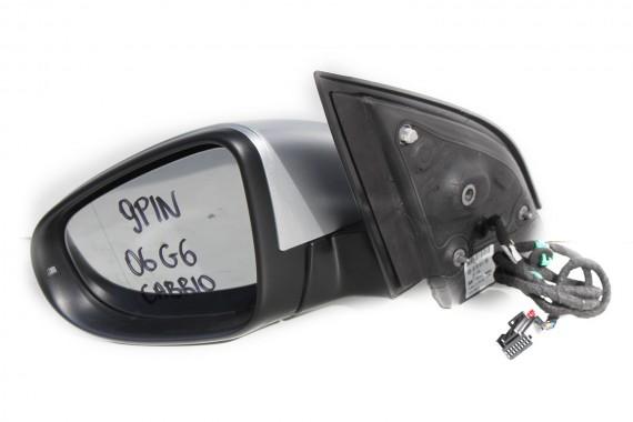 VW GOLF 6 VI CABRIO LUSTERKO ZEWNĘTRZNE DRZWI lewe 5K7 9 pin 9pin zewnętrzne pinów kabli przewodów