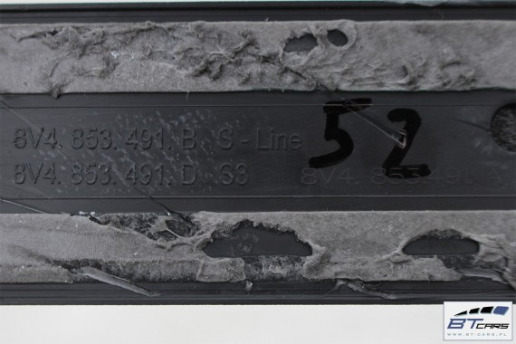 AUDI A3 SPORTBACK LISTWY PROGOWE G-TRON 8V