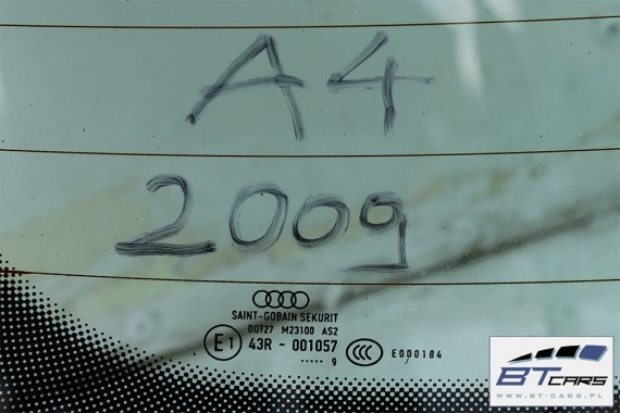AUDI A4 SEDAN SZYBA TYLNA TYŁ 2009 8K 8K5 B8 8K0 8K5 845 501 8K5845501 karoseryjna