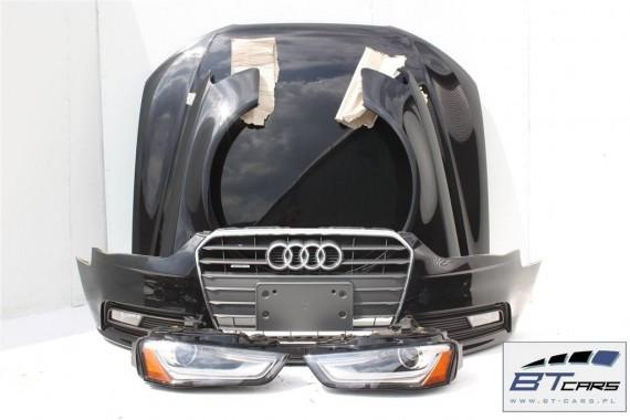 AUDI A4 KOMPLETNY PRZÓD maska błotniki zderzak pas przedni wzmocnienie błotnik lampy XENON LED 8K B8 LIFT FL Kolor  LY9B czarny