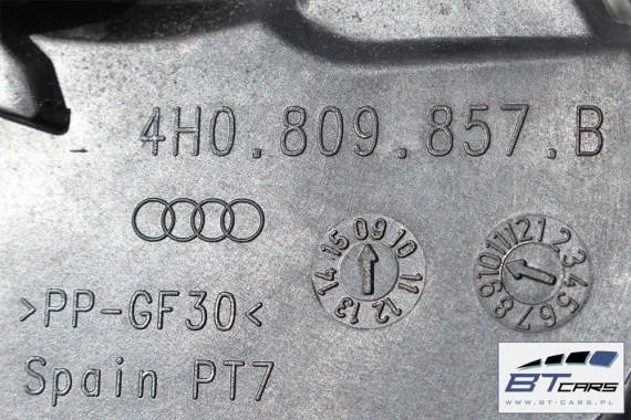 AUDI A8 KLAPKA WLEWU PALIWA + KOREK 4H0809857B 4H0809909 4H0 809 857 B  4H0 809 909 4H D4 LY9C - biel ibisa