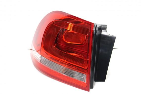 VW TOUAREG TYŁ ZDERZAK + KLAPA BAGAŻNIKA + LAMPY lampa tylny 7P 7P0 PDC Kolor  LZ6H racinggruen perleffekt KOMPLETNY