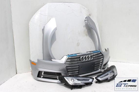 Audi A4 Kompletny Przód Maska Błotniki Zderzak Pas Przedni Lampy