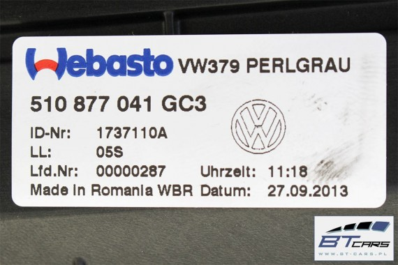 VW SPORTSVAN DACH SOLAR SZYBERDACH 5G9 877 307 510959591 510 959 591 5G9 877 307 GOLF 7