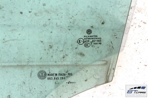 VW POLO SZYBA DRZWI DRZWIOWA LEWA 6R3845201 6R3 845 201 6R 6R3 3d SZYBY 2011