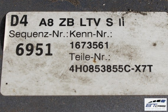 AUDI A8 S8 LISTWY PROGOWE S-LINE LX7T 4H0853855C  4H0853856C LISTWA PROGOWA 4H0 853 855 C  4H0 853 856 C
