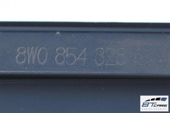 AUDI A4 LISTWA ZGARNIAJĄCA USZCZELKA SZYBY PRZEDNIEJ 8W0854327C 8W0854328C 8W0 854 327 C 8W0 854 328 C przód odrzutnik