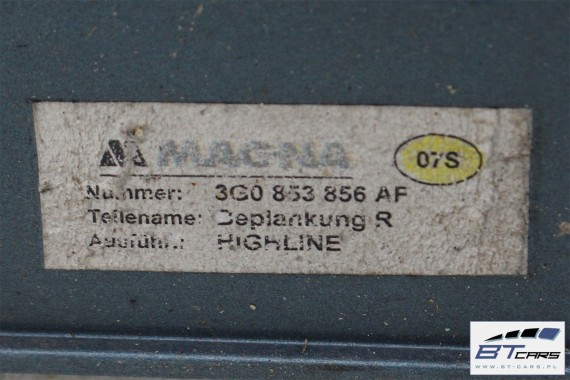 VW PASSAT B8 LISTWA PROGOWA PRÓG 3G0853855AF 3G0853856AF 3G0 853 855 AF 3G0 853 856 AF LB5J - niebieski (harvard blue metallic)