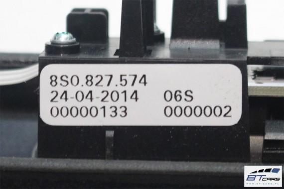 AUDI TT LISTWA RĄCZKA KLAPY BAGAŻNIKA 8S0827574 8S0 827 574 (z rączką i oświetleniem tylnej tablicy rejestracyjnej ) 8S 2015-
