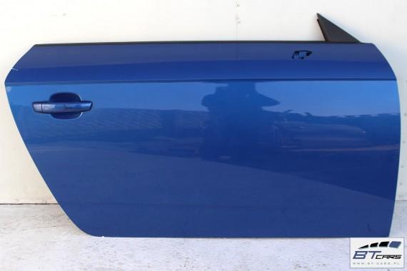 AUDI TT DRZWI PRAWE STRONA PRAWA 8S 2015- Kolor: LY5Q - niebieski (sepangblau)