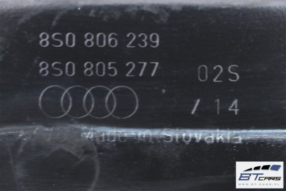 AUDI TT PODSZYBIE METALOWE 8S0806239 8S0805277 8S0 806 239 8S0 805 277 8S